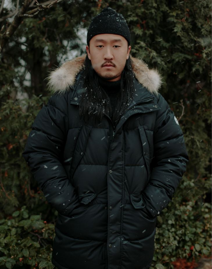 Quartz Co. winter jackets Made in Canada Norman Wong wearing Lutse
