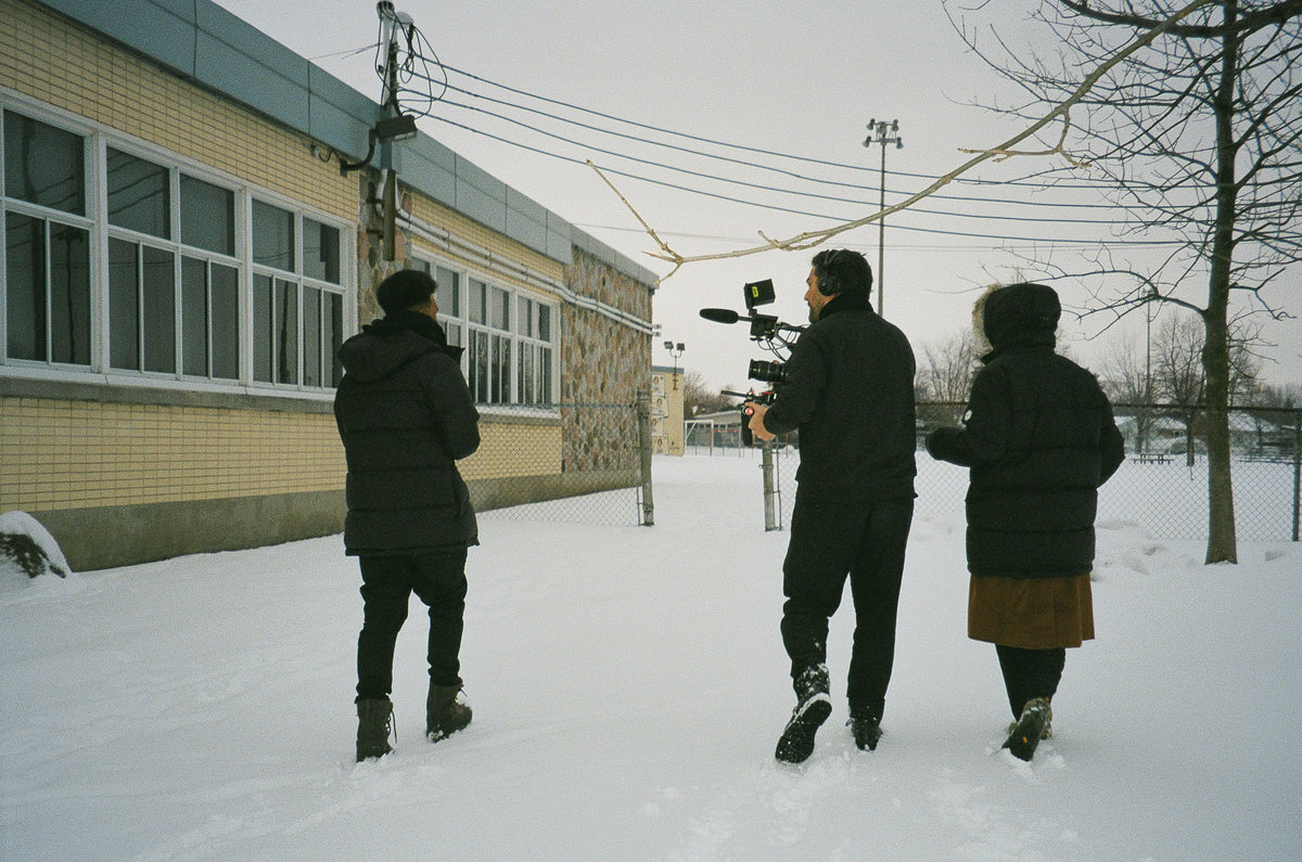 Quartz Co. winter jackets Made in Canada, Tamy Emma Pepin interviewing for Winter Diaries