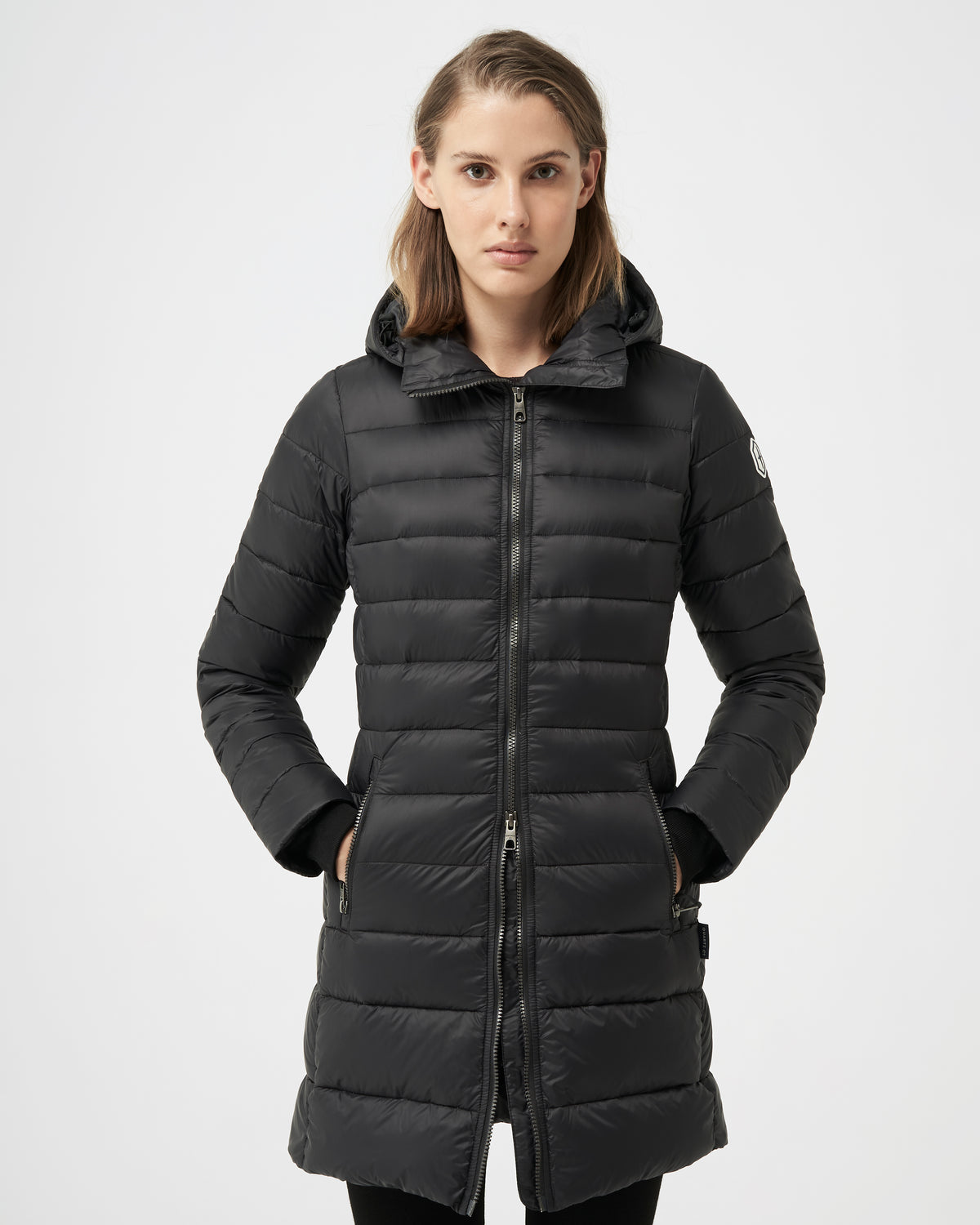 Quartz Co. - Canadian Made Winter Jackets | Women | Lausanne | Women Down Lightweight jacket | Matte Black