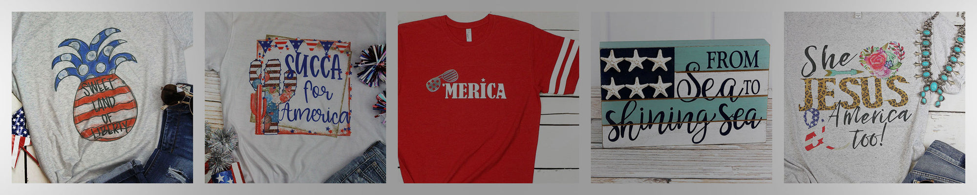 Wholesale patriotic jewelry and t-shirts for the 4th of July