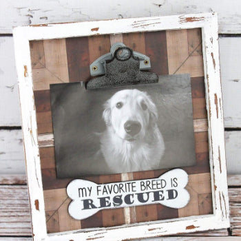 My Favorite Breed is Rescued Photo Frame