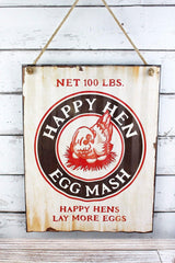 Happy Hen Metal Sign