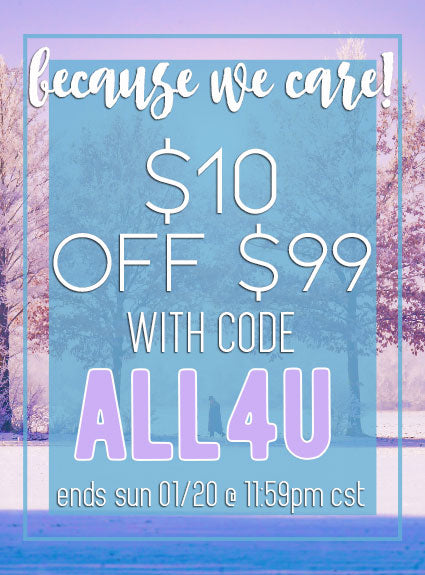 $10 OFF $99 -Use Code ALL4U