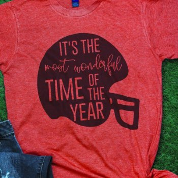 Most wonderful time football shirt