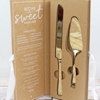 Let Them Eat Wedding Cake 2 Piece Serving Set