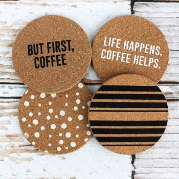 Set of 4 Coffee Cork Coasters