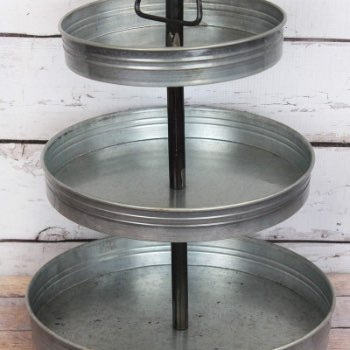 Tin Triple Layer Tiered Tray