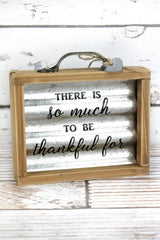Thankful Metal Box Sign