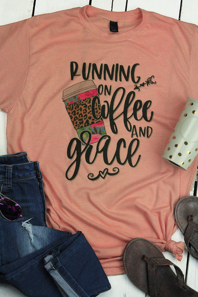 Running On Coffee & Grace Unisex Blend Tee