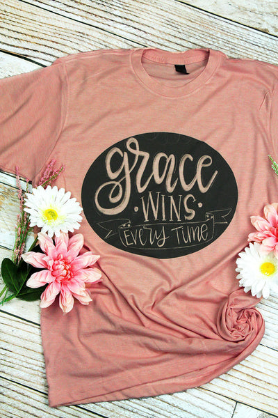 Grace Wins Every Time Unisex Blend Tee