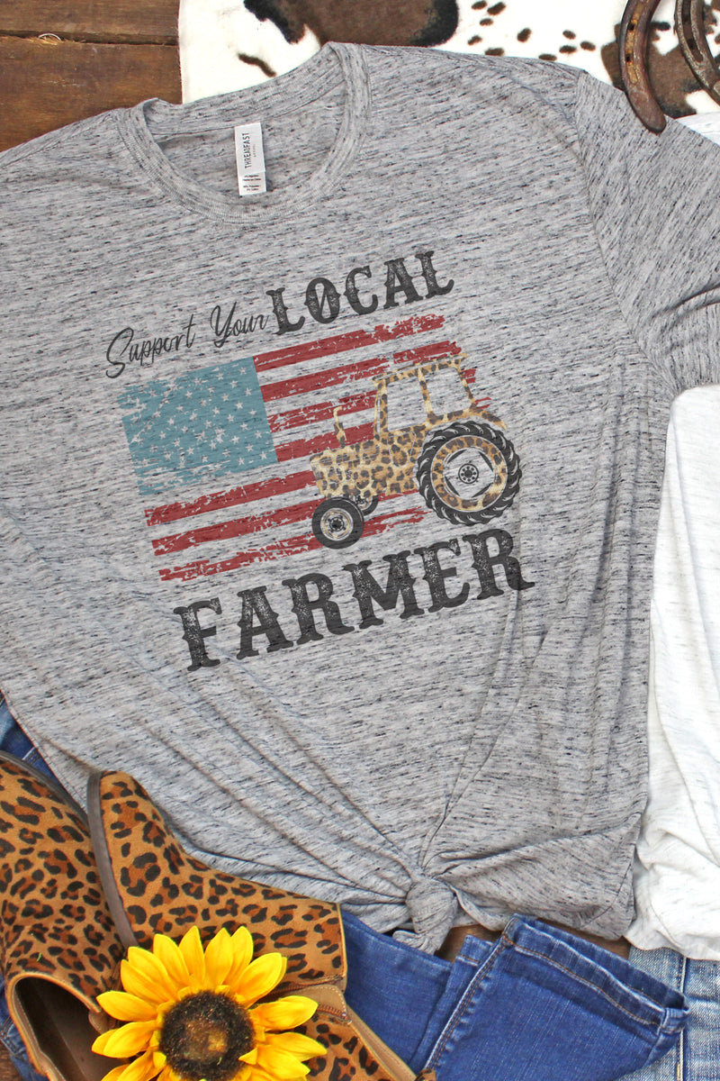 Support Your Local Farmer Blizzard Jersey Short Sleeve T-Shirt