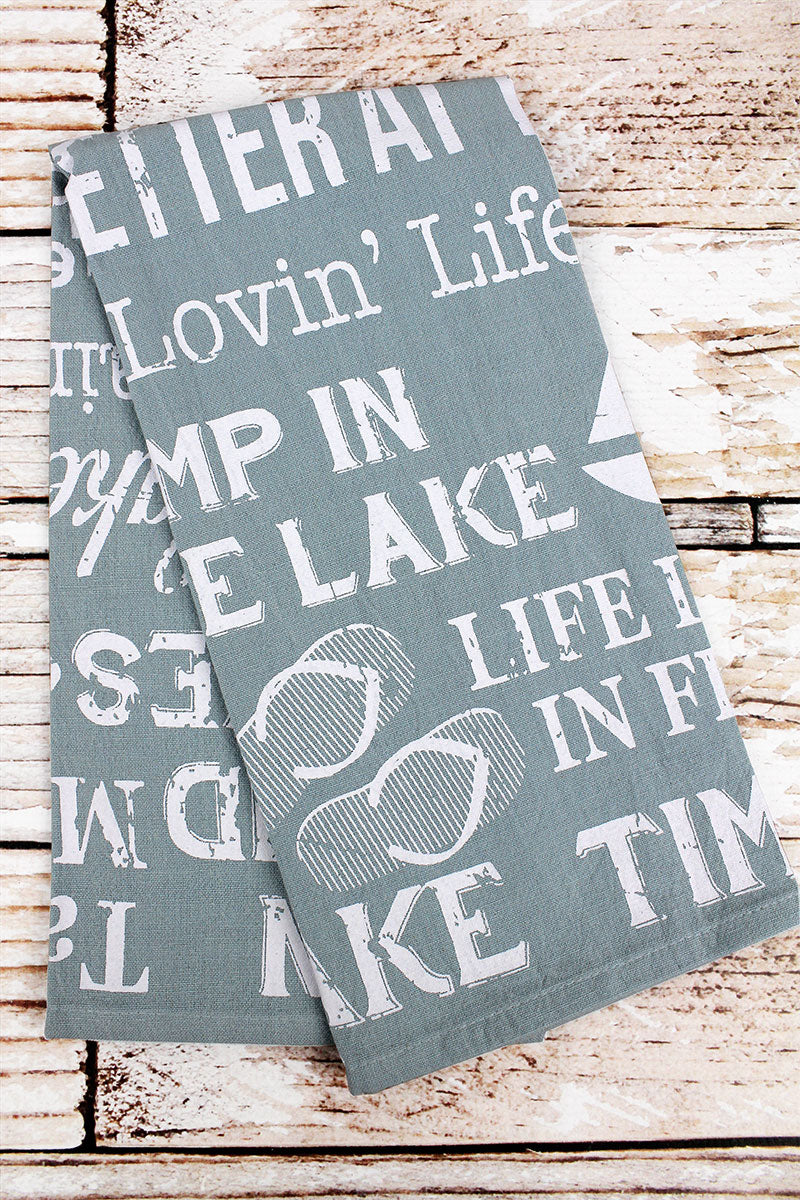 Lake Life Flour Sack Hand Towel