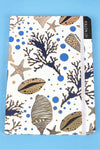 Sea Life Elegance White and Blue Notebook