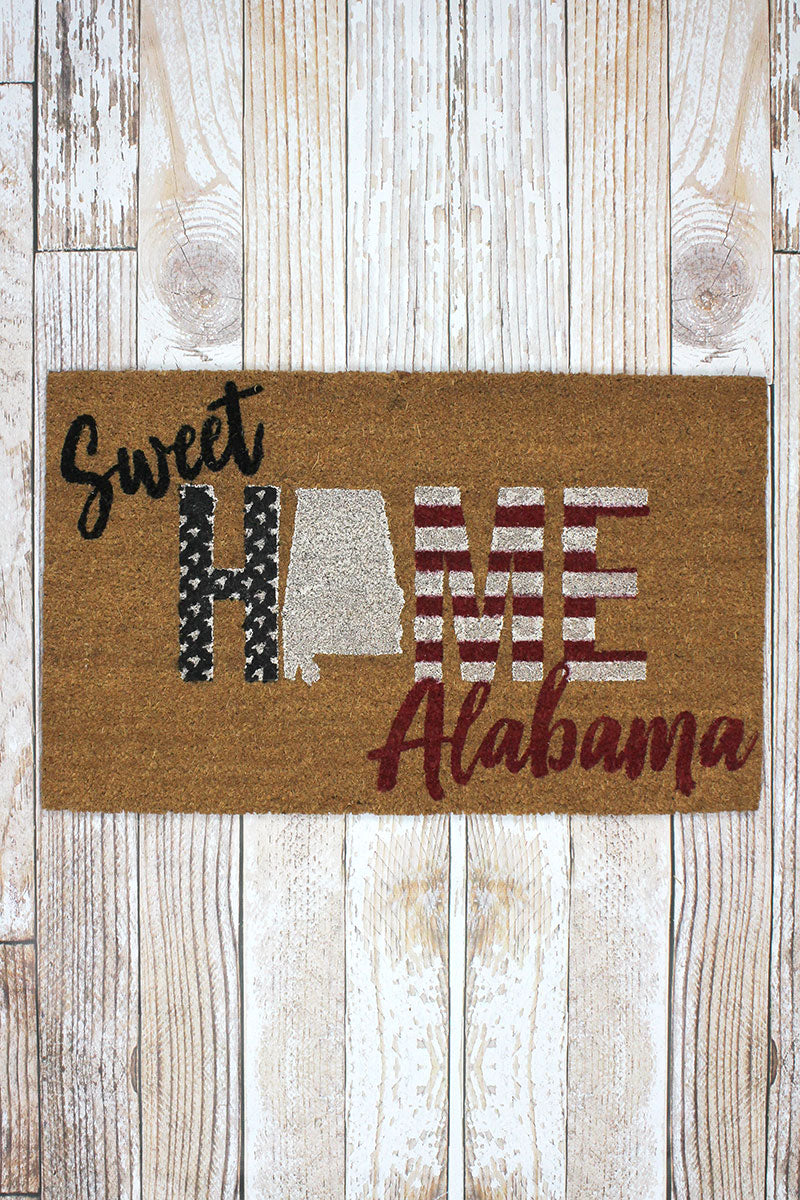 Sweet Home Alabama Coir Doormat