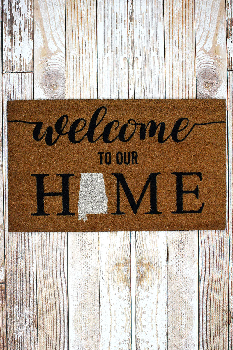 Alabama Welcome Coir Doormat