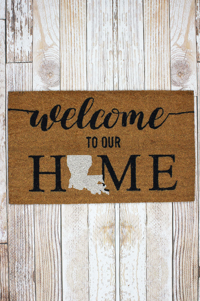 Louisiana Welcome Coir Doormat