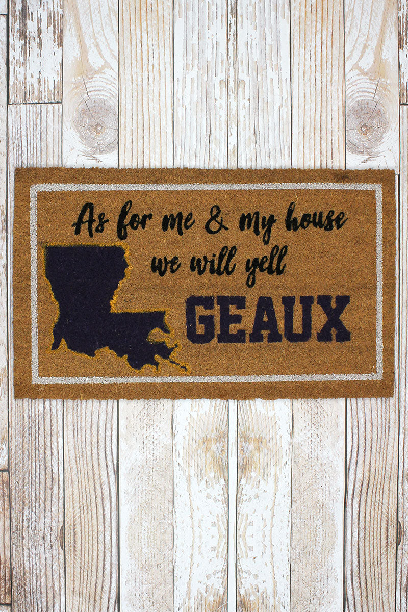 We Yell Geaux Coir Doormat