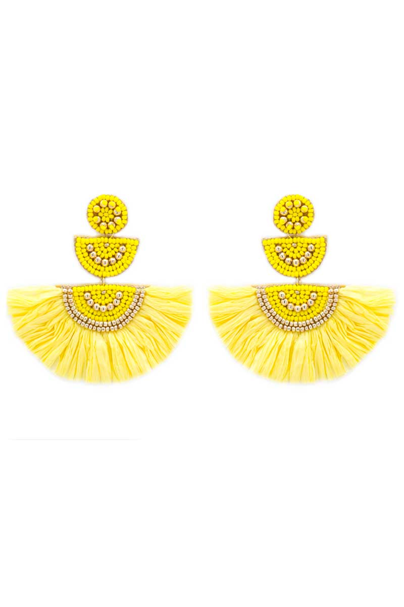 Yellow Key Largo Earrings
