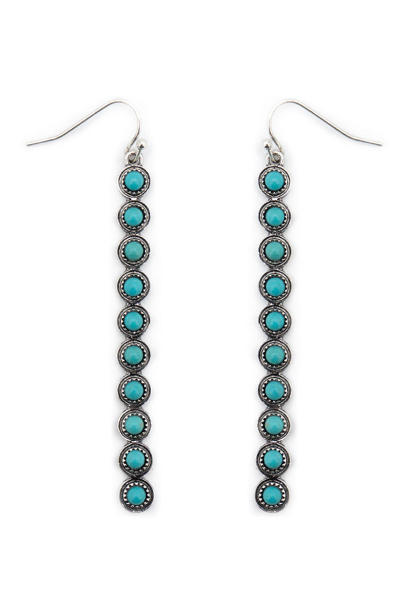 Turquoise Ribbon Fall Earrings