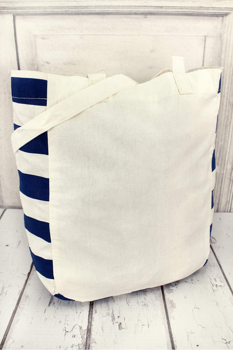 Gemline Chelsea Cotton Market Tote, Ivory and Navy #1403R1 (PLEASE ALLOW 3-5 BUSINESS DAYS. EXPEDITED SHIPPING N/A)