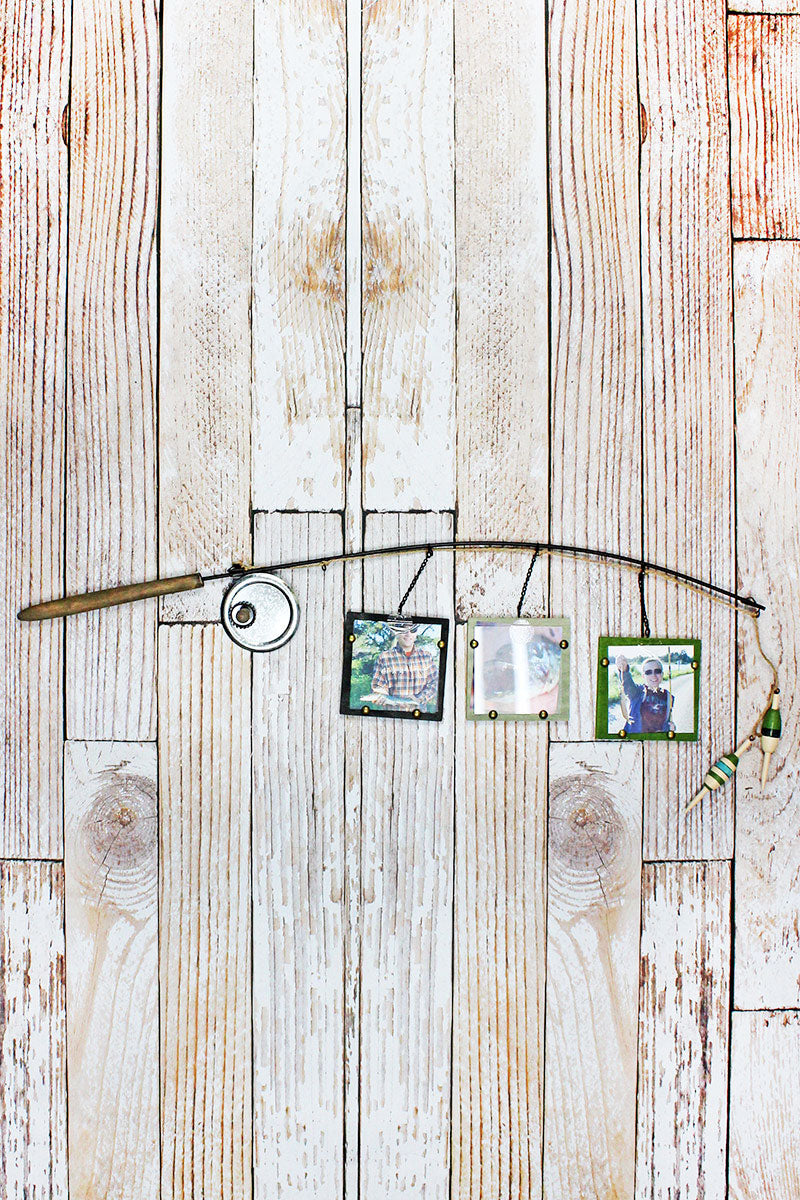 12.5 x 34.5 Fishing Pole Triple Photo Display