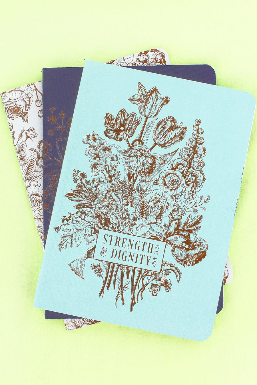 Set of 3 'Strength & Dignity' Notebooks