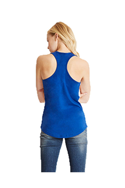 Next Level Ladies' Colorblock Racerback Tank, White/Royal *Personalize It!