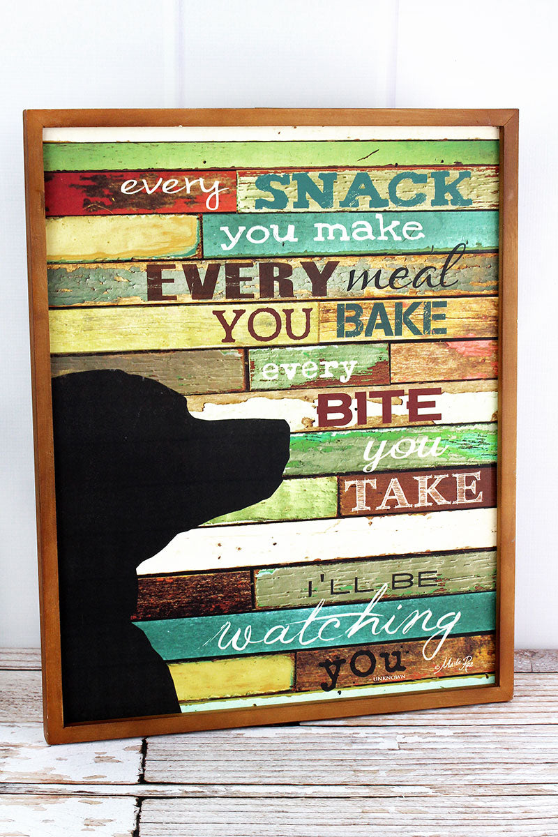 20.75 x 16.5 'I'll Be Watching You' Wood Framed Wall Sign