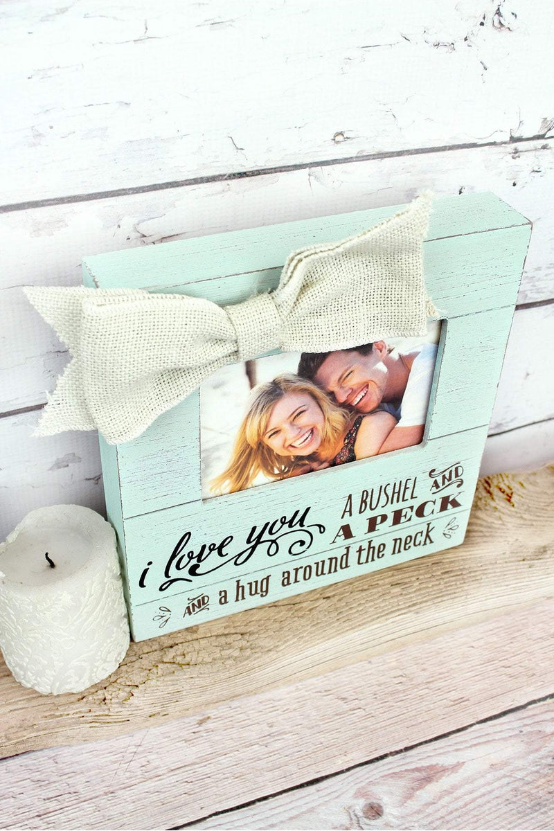 9.5 x 9 \'Bushel And A Peck\' 4x6 Photo Frame with Bow | Wholesale ...