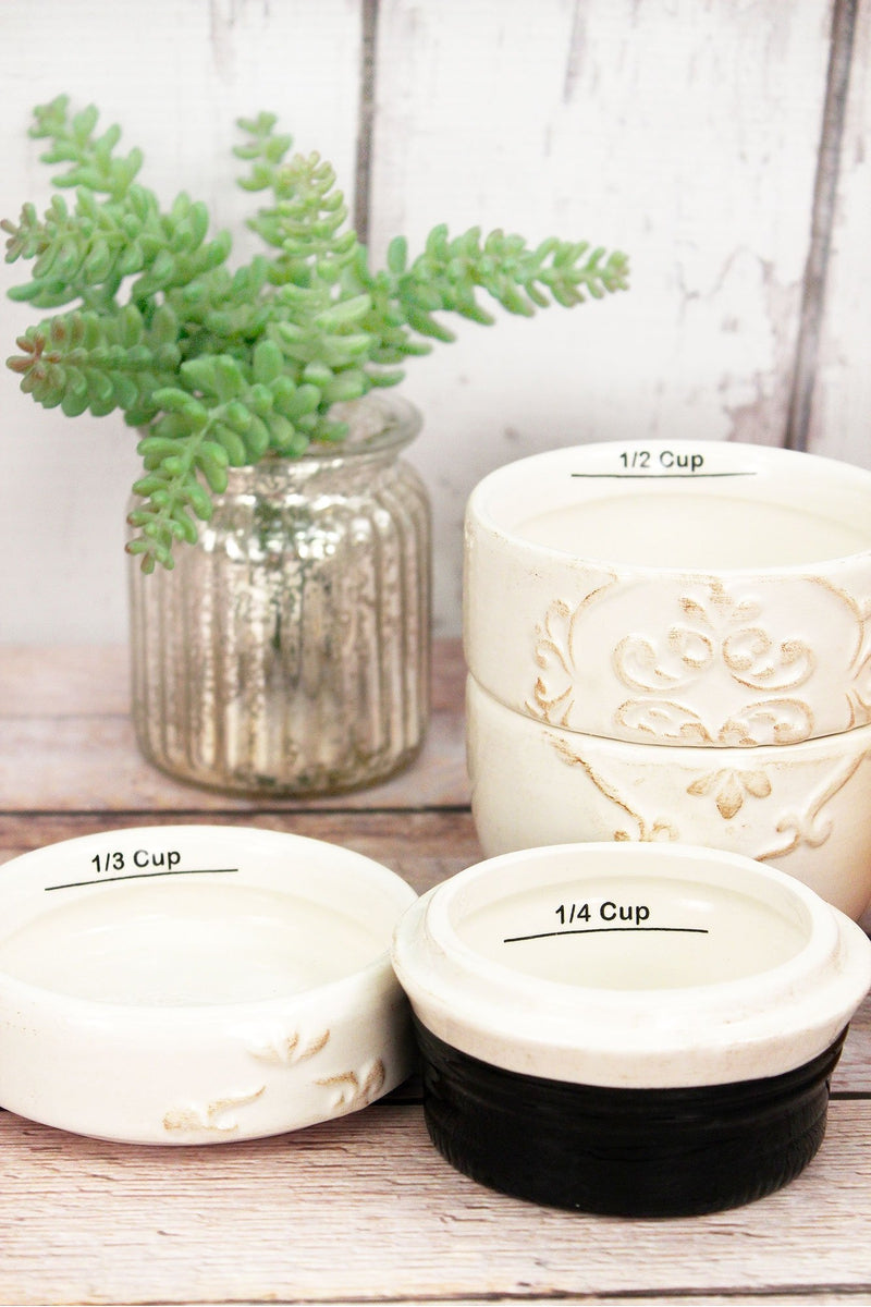 Ceramic Measuring Cup 4 Piece Set