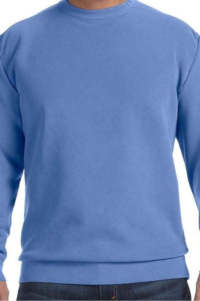 Single Letter Circle Comfort Colors Adult Crew-Neck Sweatshirt *Choose Your Colors (Wholesale Pricing N/A)