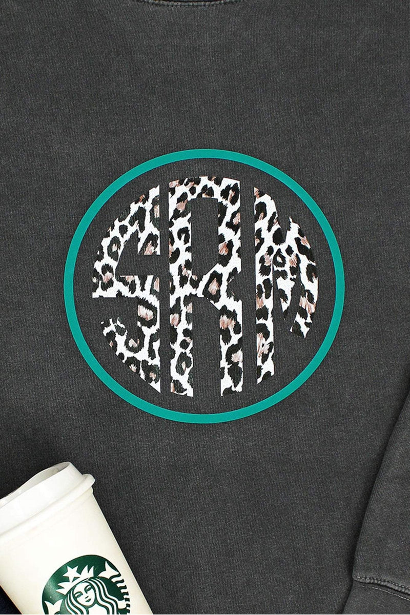 Large Circle Monogram Comfort Colors Adult Crew-Neck Sweatshirt *Customizable (Wholesale Pricing N/A)
