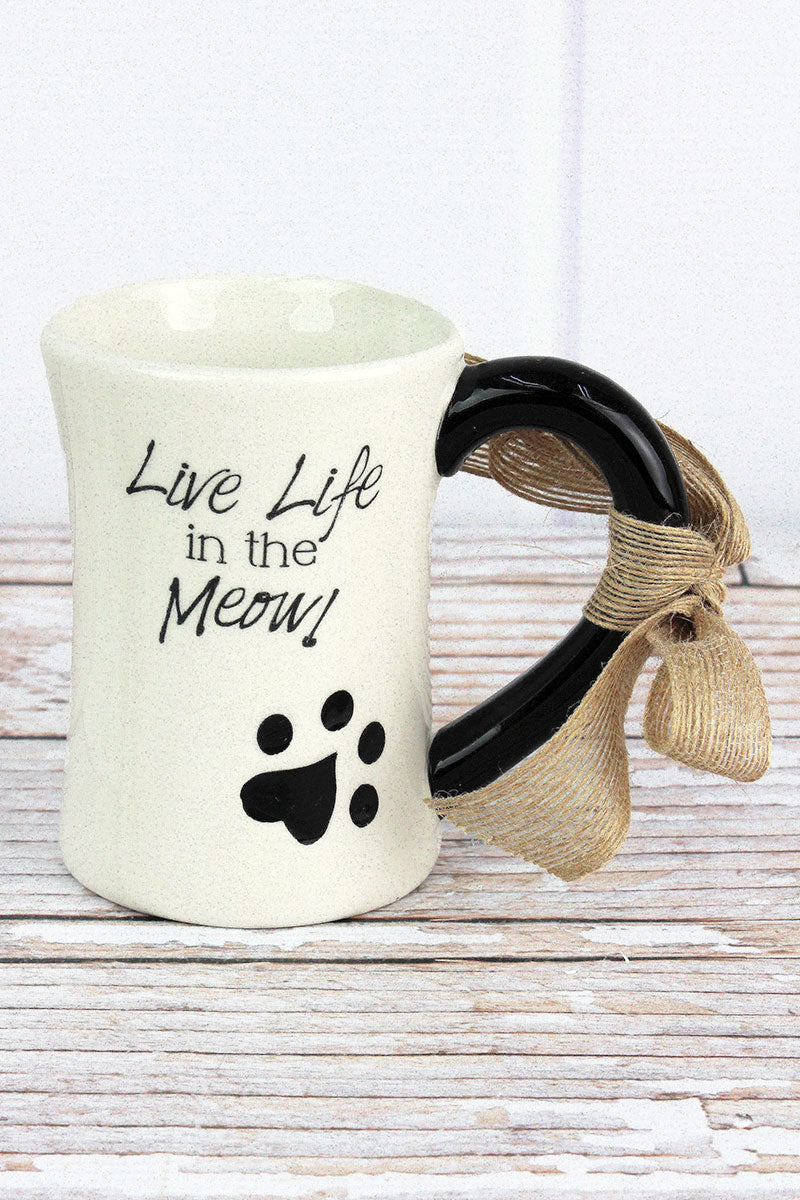 Ceramic 'Live Life In The Meow!' Mug