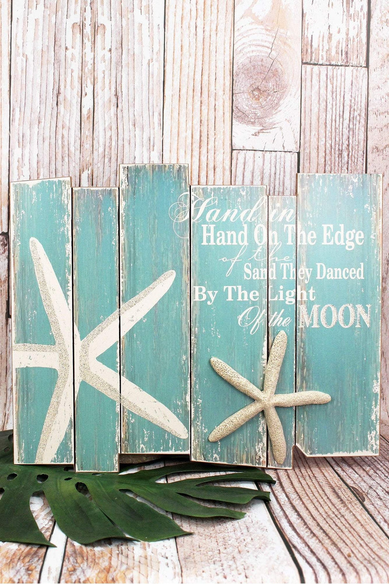 15.75 x 19 'Hand in Hand' Starfish Wood Wall Sign