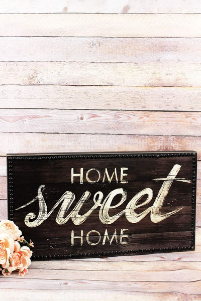 11.75 x 21.5 'Home Sweet Home' Wood Wall Sign