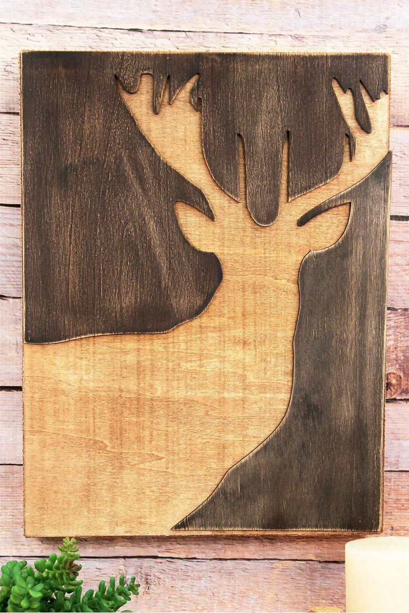 16 x 12 Cut-Out Deer Wood Wall Art | Wholesale Accessory Market