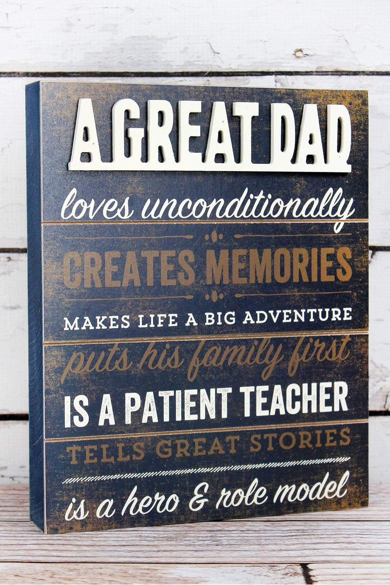11.25 x 9 'A Great Dad' Wood Box Sign