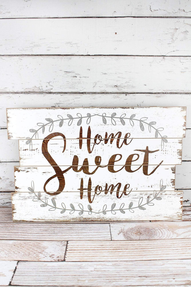 15.75 x 23.5 'Home Sweet Home' White Wall Sign