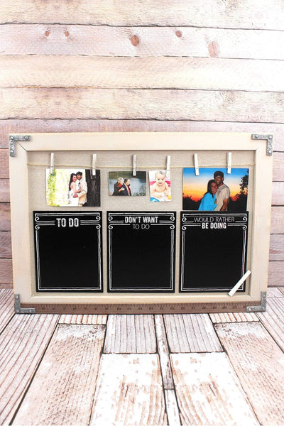 16.75 x 23.5 Wood Chalkboard and Photo/Card Display Wall Decor