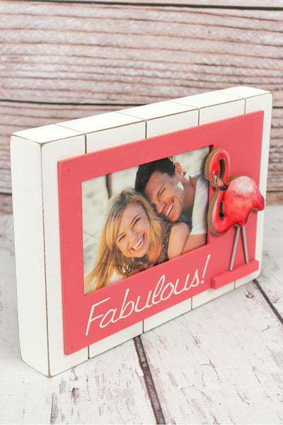 7 x 10 'Fabulous!' Wood 4x6 Photo Frame