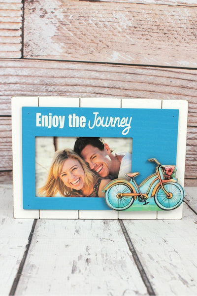 7 x 10 'Enjoy The Journey' Wood 4x6 Photo Frame