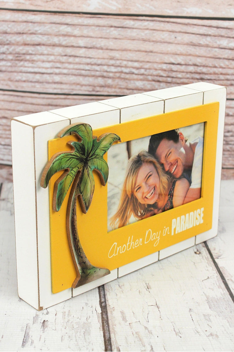 7 x 10 'Another Day In Paradise' Wood 4x6 Photo Frame