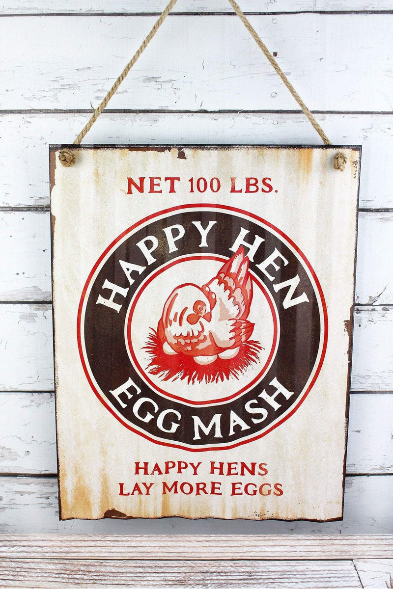 19.75 x 15.25 'Happy Hen' Metal Wall Sign