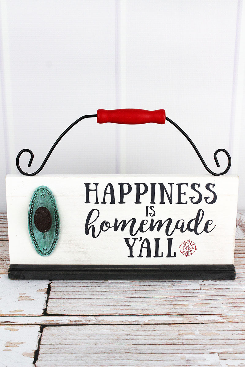 9.75 x 13 'Happiness Is Homemade Y'all' Tabletop Sign