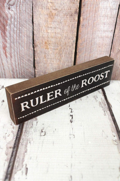 2 x 7.25 'Ruler Of The Roost' Wood Tabletop Block