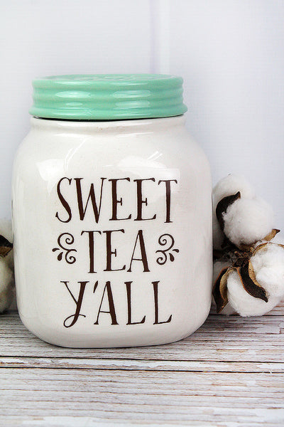Ceramic Sweet Tea Jar, 7""
