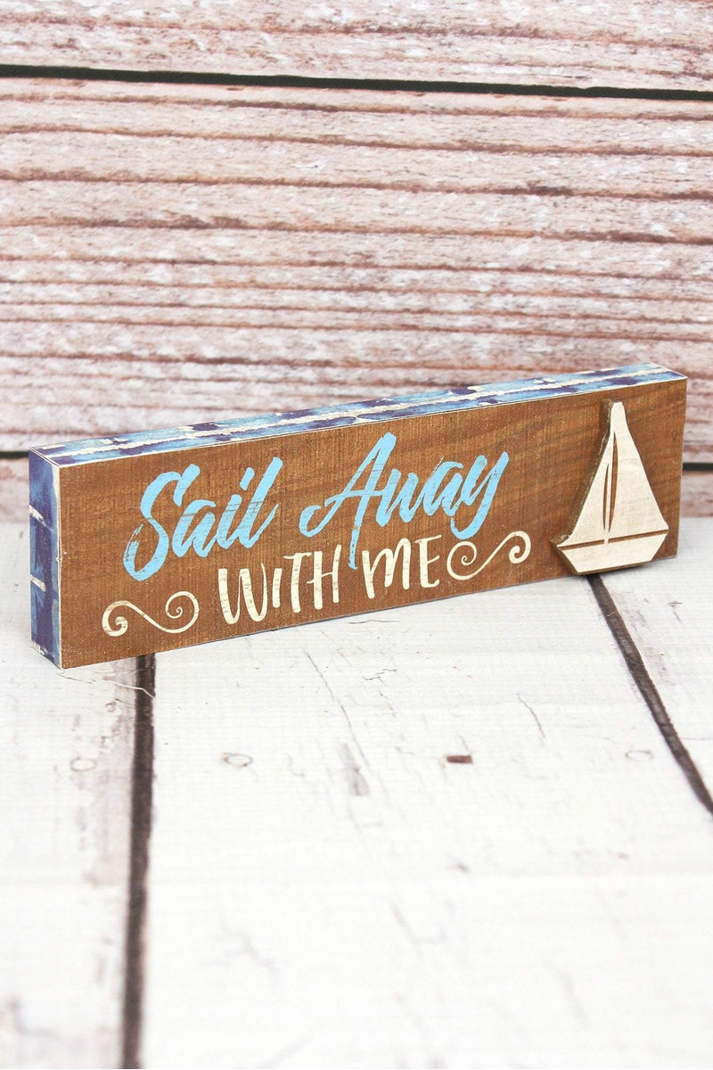 2 x 7.5 'Sail Away With Me' Wood Tabletop Block