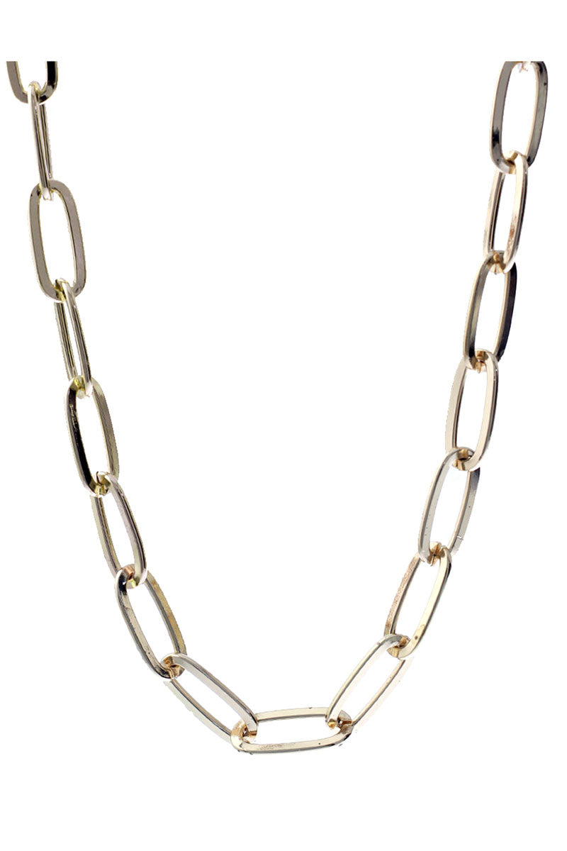 Goldtone Oval Link Chain Necklace