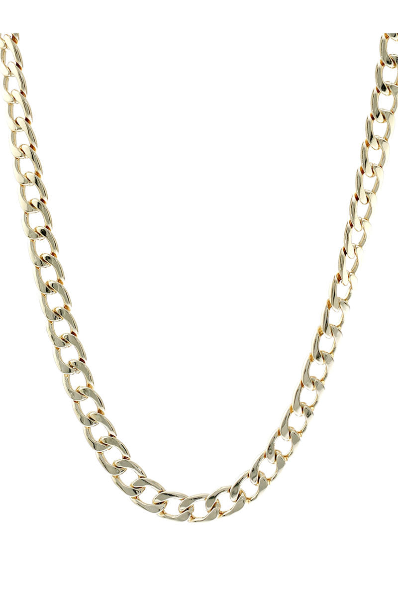 Goldtone Cuban Link Chain Necklace