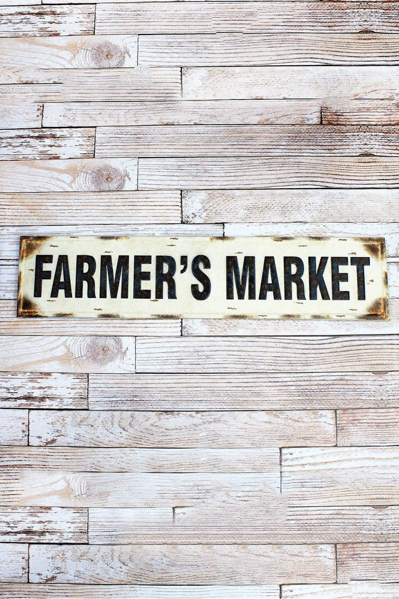 10 x 44.75 'Farmer's Market' Tin Wall Sign